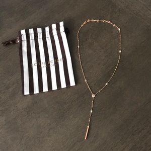 Henri Bendel Rose Gold Lux Uptown Y Necklace